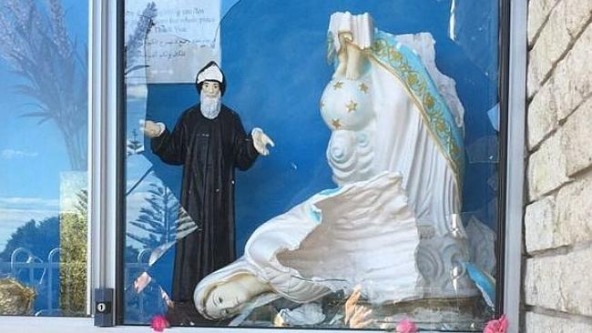 Virgin Mary statue vandalised at St Charbel's parish