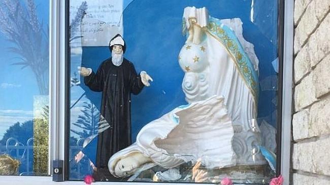Virgin Mary statue vandalised at St Charbel's parish